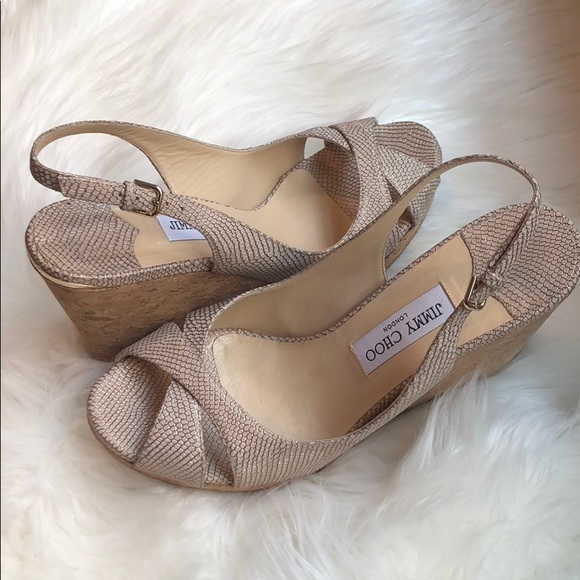 78c8cca2087 Jimmy Choo Shoes - Jimmy Choo Wedges Size 11 12